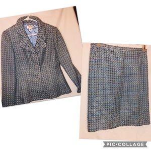 Talbots petites women's coat and skirt set size 10